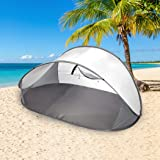 Mountvie Pop Up Tent Camping Beach Tents 4 Person Portable Hiking Shade Shelter