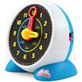 BEST LEARNING Learning Clock - Educational Talking Learn to Tell Time Light-Up Toy with Quiz and Sleep Mode Lullaby Music for