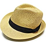(マークハット) MARK.HATS 大きいサイズも選べる MIDDLE BRIM PAPER HAT ペーパーハット ストローハット中折れ 麦わら帽子 模様編み RUBEN ルーベン