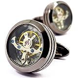 MFYS Jewelry 時計ムーブメント ラウンドカフス 【専用収納ケース付き】