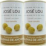 ホセルー アンチョビ入りグリーンオリーブ 150g×2缶 ワインおつまみ スペイン