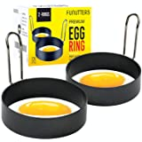 Egg Rings, 3.5 Inch Size, Set of 2, Ring Molds for Cooking, Food Grade Stainless Steel Egg Mold, For Breakfast, Mini Pancakes