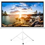 PERLESMITH Projector Screen with Stand 100 Inch 4K Ultra HD 16:9 Portable Outdoor Indoor Movie 3D Widescreen with Foldable Tr