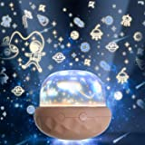 Night Light for Kids, 360 Rotatable Multicolor Changing LED Rechargeable Kids Night Light Projector Lamp for Baby and Kids Ro