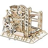 ROBOTIME 3D Wooden Model Kit Marble Run Toy Craft Model Building Set  Adults & Kids Magic Crush Lift Coaster