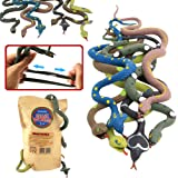 Rubber Snake14 Inch Snake Toy Set(6 Pack)Food Grade Material TPR Super StretchyWith Learning CardValeforToy Realistic Fake Sn