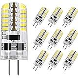 DiCUNO G4 LED Light Bulb, 10-Pack, 3 Watt, Non-dimmable, 230 Lumen, Daylight White 6000K, 12 Volt, 20-25W Equivalent, T3 Base