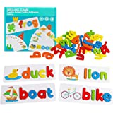 kelebin Baby Toys English Alphabet Spelling Game Wooden Card Board Learning Early Education Toy Kids Gifts