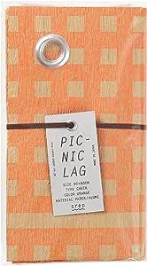 山陽製紙 レジャー シート キャンプ アウトドア ピクニック ラグ 用品 90×60cm 撥水 日本製 北欧 crep CHECK オレンジ Sサイズ