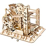 ROBOTIME 3D Wooden Model Kit Marble Run Toy Craft Model Building Set Best Christmas Gift for Adults & Kids Magic Crush Lift C