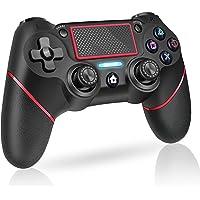 PS4 コントローラー ワイヤレス 600mAh大容量バッテリー PS4 ゲームパッド 6軸ジャイロセンサー 二重振動…
