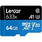 Lexar High-Performance microSDXC 633x 64GB UHS-I Card w/SD Adapter - LSDMI64GBBNL633A