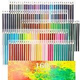 色鉛筆 160色セット 油性色鉛筆 非毒性・写生・塗り絵・スケッチ 学生さんと初心者専用 持ち運び便利 鉛筆削りや消しゴ…