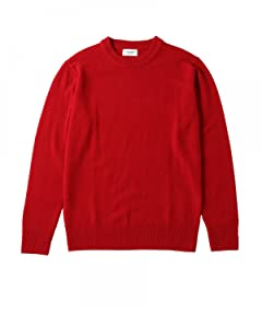 Middle Gauge Wool Crewneck Sweater 1113-199-3451: Red