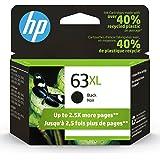 Original HP 63XL Black High-yield Ink Cartridge   Works with HP DeskJet 1112, 2130, 3630 Series; HP ENVY 4510, 4520 Series; H
