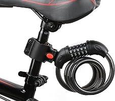バイク ダイヤルロック ワイヤーロック 自転車ロック 長1200mm 横断面直径12mm 5桁 防盗