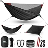 ETROL Camping Hammock - Upgraded 2 in 1 Hammock with Mosquito Net - 2 Tree Straps, Hold Up to 485lbs - Lightweight Portable H