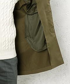Polyester Balmacaan Coat 3225-149-2090: Olive