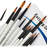 Falling in Art Paint Brushes Set, 12 PCS Nylon Professional Round Paint Brushes for Watercolor, Oil Painting, Acrylic, Face B