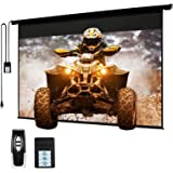 """120"""" Motorized Projector Screen Electric Diagonal Automatic Projection 4:3 HD Movies Screen for Home Theater Presentation Edu"""