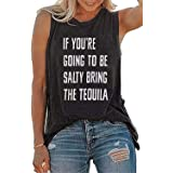 Drinking T-Shirt Women If You're Going to Be Salty Bring The Tequila Cinco De Mayo Shirt Funny Graphic Tank Top