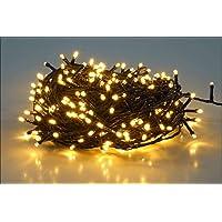 salcar 25m 360球 ストレット イルミネーションLEDライト 防水 ワイヤライト 屋内屋外使用可能 クリスマ…