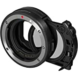 Canon 3442C005 Drop in Filter Mount Adapter EF-EOSR with CPL Filter Compact System Camera Lens Adapter Black