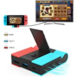 [2021 Latest Updated] AolsteCell Fast Heat Dissipation Switch TV Dock set and Charger, Foldable Replacement for Nintendo Swit