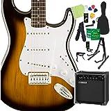 Squier by Fender Bullet Strat with Tremolo, Brown Sunburst 初心者14点セット ヤマハアンプ付 エレキギター ストラトキャスター スクワイヤー