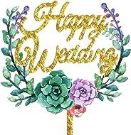 Aharan9 (アハランナイン) ケーキトッパー 結婚式 ウェディング 飾り付け ウェディングケーキ デコレーション