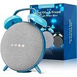 LANMU Alarm Clock Stand for Google Home Mini and Nest Mini (2nd Gen),Retro Alarm Clock Case Mount Accessories (Blue)