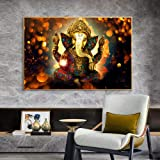 Wall Art,Posters,Prints,Hindu Gods Lord Ganesha ,Canvas Paintings Classical Posters And Prints , Hinduism Wall Art Pictures F