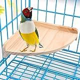 Mrli Pet Bird Perch Platform Stand Wood for Small Animals Parrot Parakeet Conure Cockatiel Budgie Canaries Gerbil Rat Mouse C