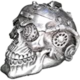 BLASCOOL Halloween Steampunk Gothic Skull Decor - Sci-fi Human Head Skeleton Cranium Figurine Cyborg Protruding Gearwork Stat