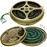 W4W Portable Mosquito Coil Holder - Mosquito Coil & Incense Burner for Outdoor use, Pool Side, Patio, Deck, Camping, Hiking,