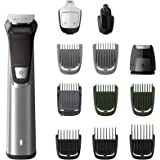 Philips Multigroom Series 7000 12-in-1 Face, Hair and Body Showerproof Premium Trimmer/Clipper/Styler, Up to 120 Min Run Time
