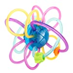 Zooawa Baby Teether, Soft Rattle and Sensory Ball Teething Toy for Pain Relief, BPA-Free Teether Ball Rattle Toy for...