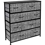 Sorbus Dresser with 8 Drawers - Furniture Storage Chest Tower Unit for Bedroom, Hallway, Closet, Office Organization - Steel