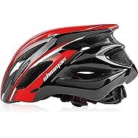 Shinmax自転車ヘルメット LEDヘルッドライト付き サイクリングヘルメット シンプルなヘルメットのバックパック ヘ…