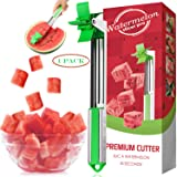 Watermelon Slicer Cutter Stainless Steel Windmill Watermelon Cutter Knife - Kids Fascinated Melon Cuber Cutting Tool - Carvin