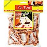 Bosmere Pot Toes, Terra-Cotta (Pack of 12) - SPT-12TCHT