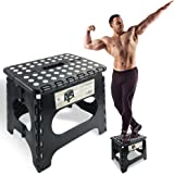 Super Strong Folding Step Stool - 28cm Height - Holds up to 140kg - The lightweight foldable step stool is sturdy enough to s