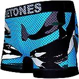 BETONES (ビトーンズ) メンズ ボクサーパンツ ANIMAL4 シャチ dwearsステッカー入り ローライズ アンダーウェア 無地 ブランド 男性 下着 誕生日 プレゼント