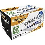 BIC Velleda 1701 Whiteboard Marker Medium Bullet Tip - Black Ink, Box of 12 Dry Erase Markers