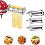 Pasta Attachment for KitchenAid Stand Mixers With Cleaning Brush ,Pasta Maker Attachment for Kitchenaid 3-Piece Set Including
