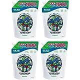 【まとめ買い】サラヤ ヤシノミ洗剤 スパウト詰替用 1000ml×4個