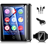 32GB Mp3 Players with Armband, Portable Music Player with Bluetooth 5.0, Full Touch Screen Mp4 Player with FM Radio/Recorder/