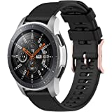 TERSELY Sport Band Strap for Samsung Galaxy Watch 3 45mm/Galaxy Watch 46mm/Gear S3, 22mm Soft Silicone Replacement Sports Ban