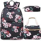 BLUBOON Bookbags School Backpack Laptop Schoolbag for Teens Girls High School (1916-Black)