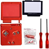 Timorn Full Parts Housing Shell Pack Replacement for Nintendo GBA SP Gameboy Advance SP Wine Pack